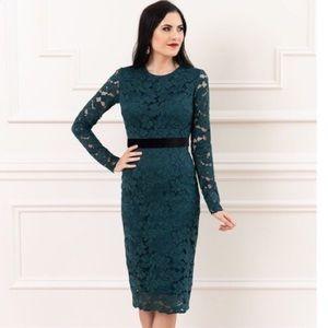 Rachel Parcell Emerald Lace Dress
